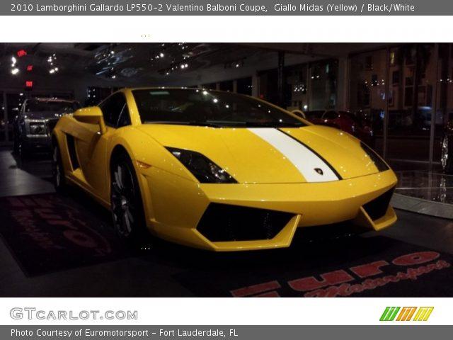 2010 Lamborghini Gallardo LP550-2 Valentino Balboni Coupe in Giallo Midas (Yellow)