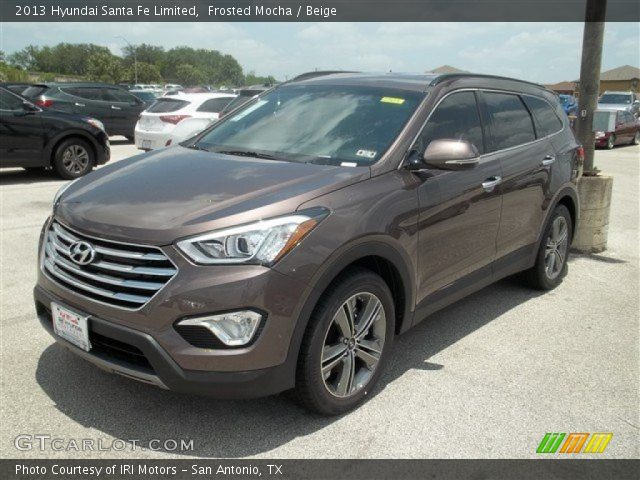 frosted mocha 2013 hyundai santa fe limited beige interior vehicle archive. Black Bedroom Furniture Sets. Home Design Ideas
