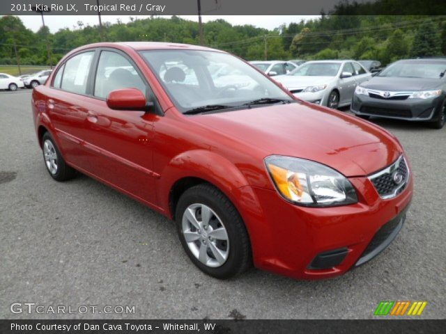 tropical red 2011 kia rio lx gray interior gtcarlot. Black Bedroom Furniture Sets. Home Design Ideas