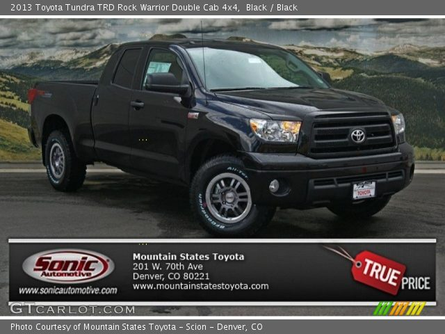 black 2013 toyota tundra trd rock warrior double cab 4x4 black interior. Black Bedroom Furniture Sets. Home Design Ideas