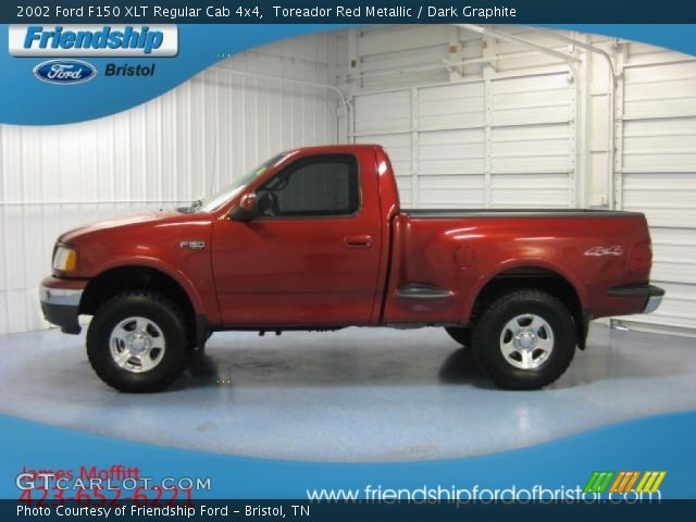 2002 Ford F150 XLT Regular Cab 4x4 in Toreador Red Metallic