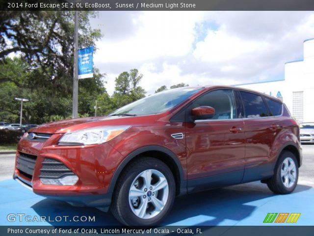 sunset 2014 ford escape se 2 0l ecoboost medium light. Black Bedroom Furniture Sets. Home Design Ideas