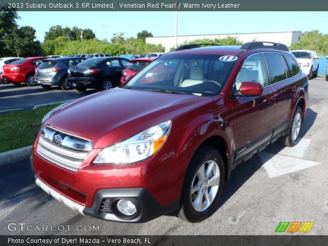venetian red pearl 2013 subaru outback 3 6r limited warm ivory leather interior gtcarlot. Black Bedroom Furniture Sets. Home Design Ideas