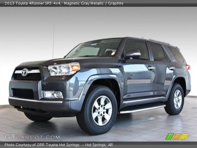 magnetic gray metallic 2013 toyota 4runner sr5 4x4 graphite interior. Black Bedroom Furniture Sets. Home Design Ideas