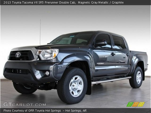 magnetic gray metallic 2013 toyota tacoma v6 sr5 prerunner double cab graphite interior. Black Bedroom Furniture Sets. Home Design Ideas
