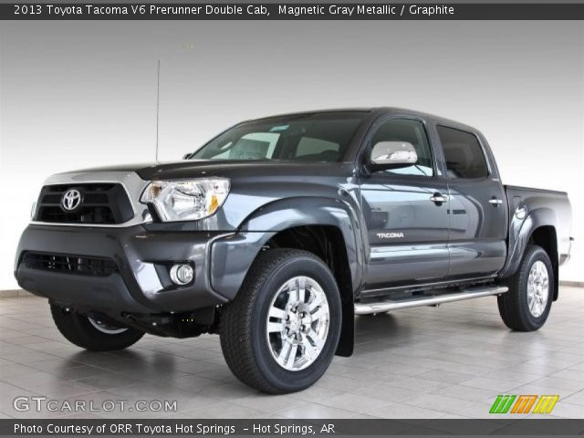 magnetic gray metallic 2013 toyota tacoma v6 prerunner double cab graphite interior. Black Bedroom Furniture Sets. Home Design Ideas