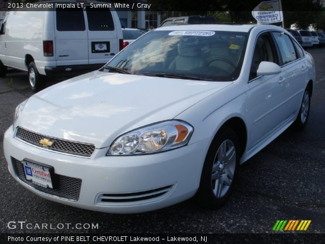 Summit White 2013 Chevrolet Impala Lt Gray Interior Vehicle Archive 82500307