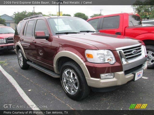 sangria red metallic 2009 ford explorer eddie bauer camel interior vehicle. Black Bedroom Furniture Sets. Home Design Ideas