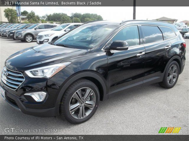 becketts black 2013 hyundai santa fe limited saddle interior vehicle. Black Bedroom Furniture Sets. Home Design Ideas