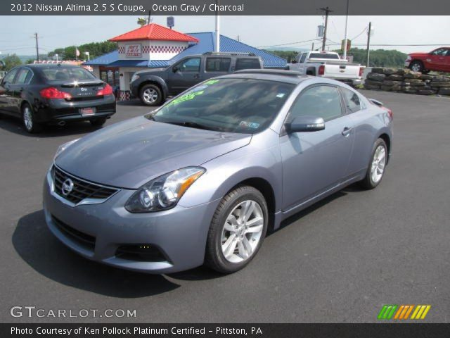 ocean gray 2012 nissan altima 2 5 s coupe charcoal interior vehicle archive. Black Bedroom Furniture Sets. Home Design Ideas