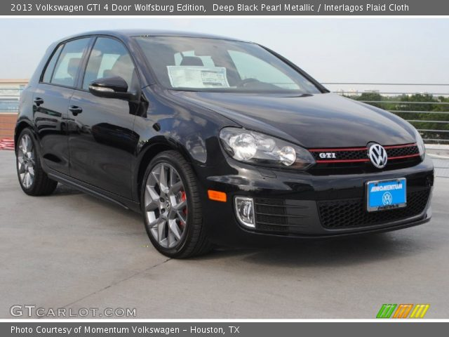 deep black pearl metallic 2013 volkswagen gti 4 door wolfsburg edition interlagos plaid. Black Bedroom Furniture Sets. Home Design Ideas