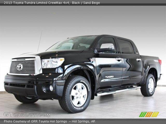 black 2013 toyota tundra limited crewmax 4x4 sand beige interior vehicle. Black Bedroom Furniture Sets. Home Design Ideas