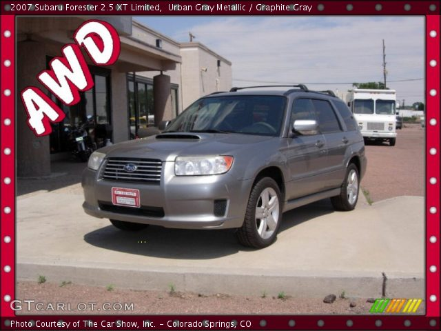 urban gray metallic 2007 subaru forester 25 xt limited