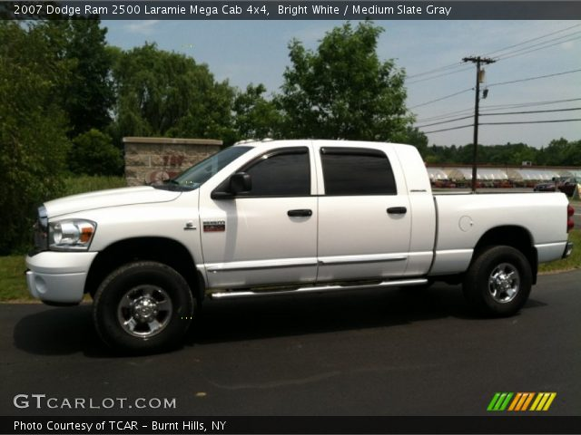 bright white 2007 dodge ram 2500 laramie mega cab 4x4. Black Bedroom Furniture Sets. Home Design Ideas