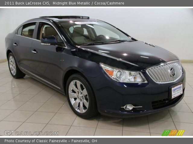 2010 Buick Lacrosse For Sale >> Midnight Blue Metallic - 2011 Buick LaCrosse CXS - Cocoa ...