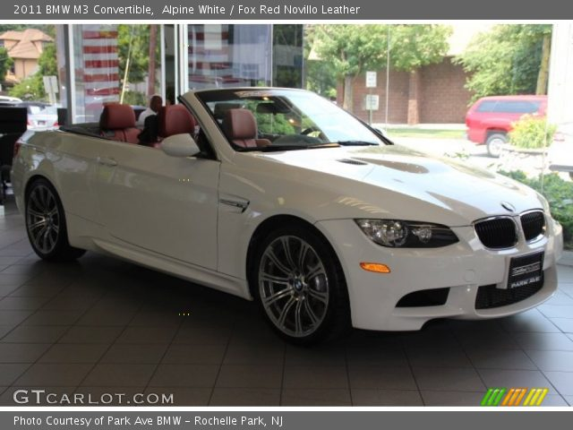 Alpine White 2011 Bmw M3 Convertible Fox Red Novillo Leather Interior