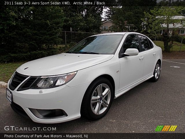 arctic white 2011 saab 9 3 aero sport sedan xwd black. Black Bedroom Furniture Sets. Home Design Ideas