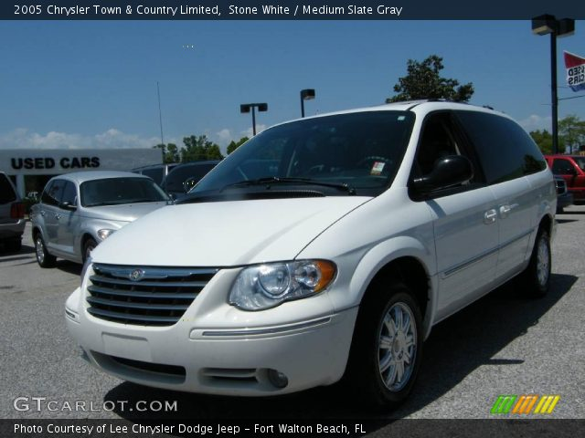 stone white 2005 chrysler town country limited medium slate gray interior. Black Bedroom Furniture Sets. Home Design Ideas