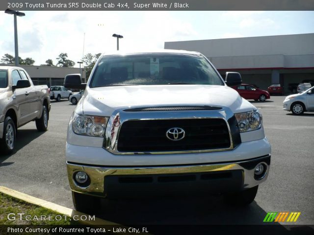 super white 2009 toyota tundra sr5 double cab 4x4 black interior vehicle. Black Bedroom Furniture Sets. Home Design Ideas