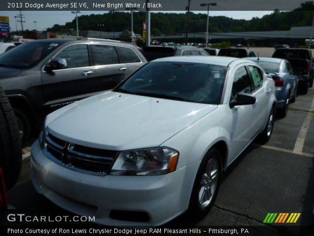 new bright white 2013 dodge avenger se v6 black. Black Bedroom Furniture Sets. Home Design Ideas