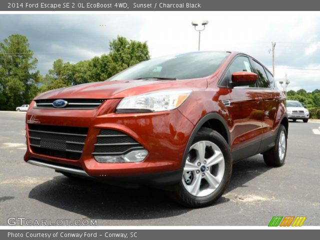 sunset 2014 ford escape se 2 0l ecoboost 4wd charcoal. Black Bedroom Furniture Sets. Home Design Ideas