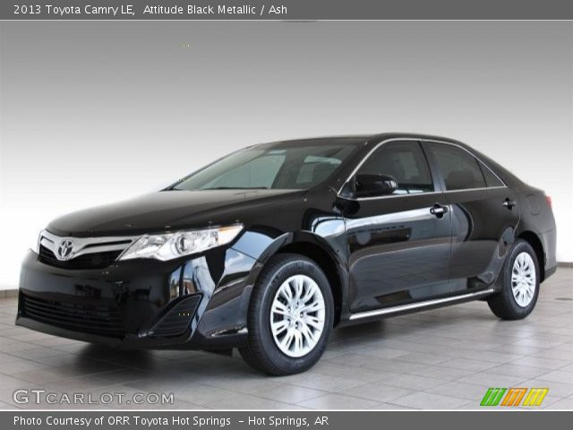 attitude black metallic 2013 toyota camry le ash interior vehicle archive. Black Bedroom Furniture Sets. Home Design Ideas