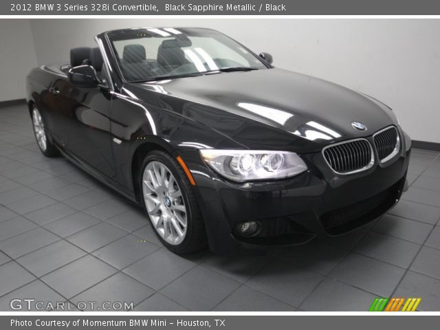 black sapphire metallic 2012 bmw 3 series 328i convertible black interior. Black Bedroom Furniture Sets. Home Design Ideas