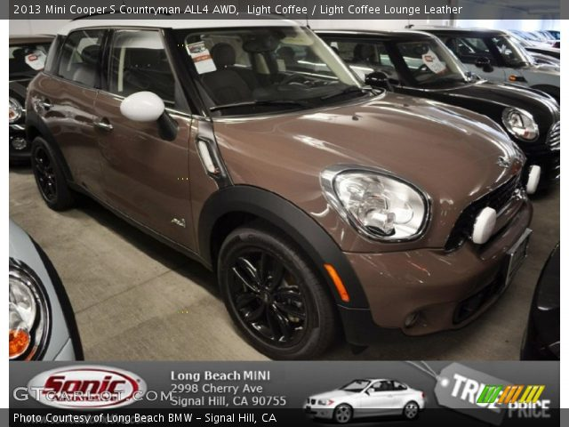 light coffee 2013 mini cooper s countryman all4 awd light coffee lounge leather interior. Black Bedroom Furniture Sets. Home Design Ideas