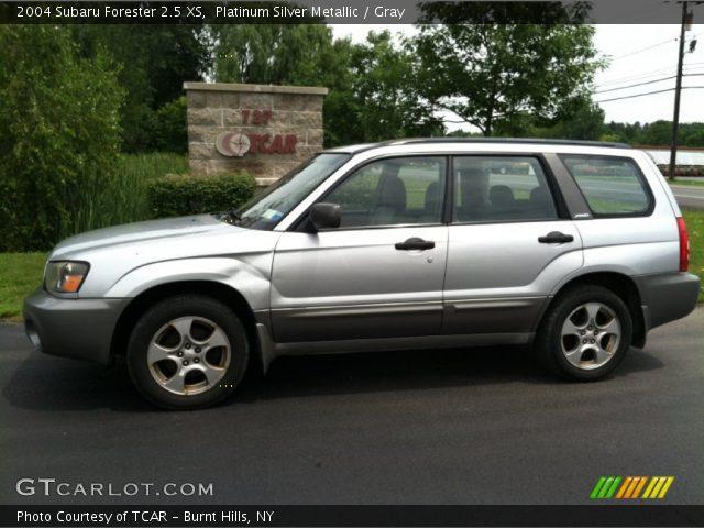 platinum silver metallic 2004 subaru forester 2 5 xs gray interior vehicle. Black Bedroom Furniture Sets. Home Design Ideas
