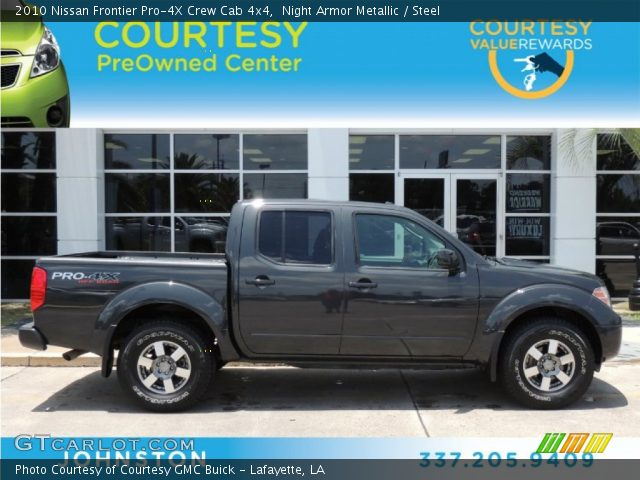 night armor metallic 2010 nissan frontier pro 4x crew cab 4x4 steel interior. Black Bedroom Furniture Sets. Home Design Ideas