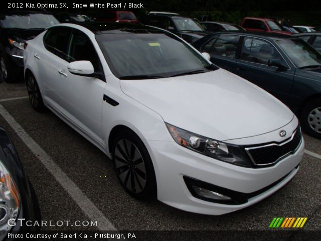 snow white pearl 2012 kia optima sx black interior. Black Bedroom Furniture Sets. Home Design Ideas