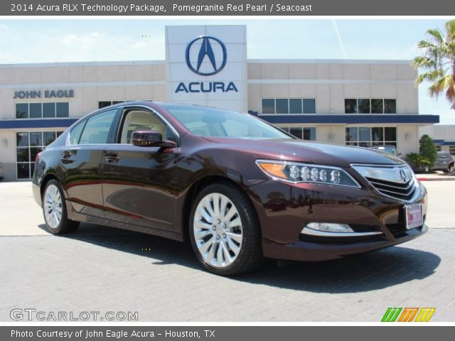 pomegranite red pearl 2014 acura rlx technology package seacoast interior. Black Bedroom Furniture Sets. Home Design Ideas