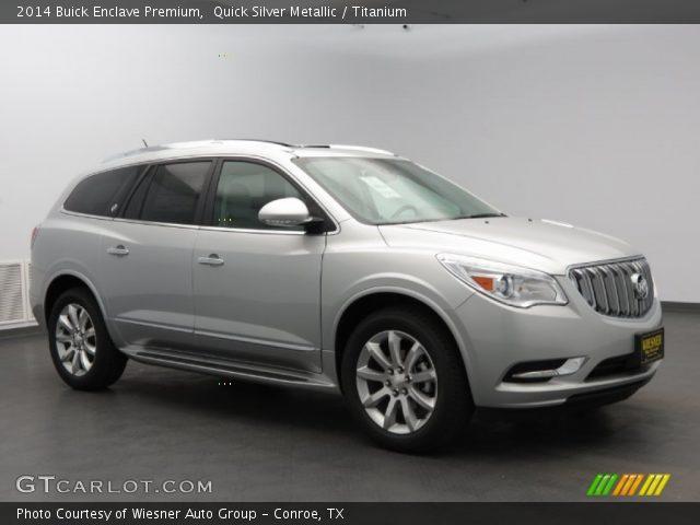 Quick Silver Metallic 2014 Buick Enclave Premium Titanium Interior Vehicle