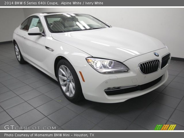 2014 BMW 6 Series 640i Coupe in Alpine White