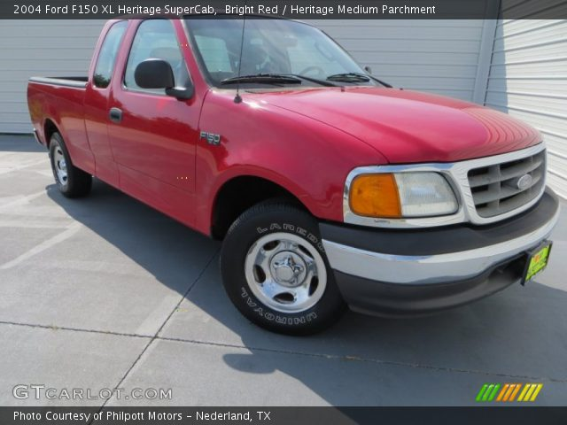 2004 Ford F150 XL Heritage SuperCab in Bright Red