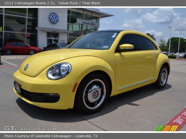 yellow rush 2013 volkswagen beetle 2 5l titan black. Black Bedroom Furniture Sets. Home Design Ideas