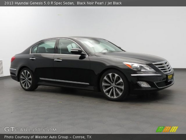 black noir pearl 2013 hyundai genesis 5 0 r spec sedan jet black interior. Black Bedroom Furniture Sets. Home Design Ideas