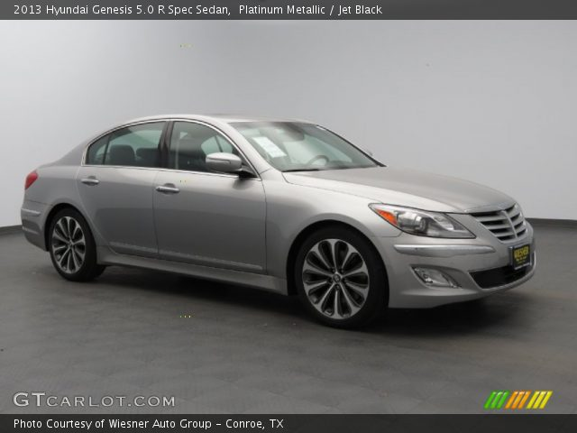 platinum metallic 2013 hyundai genesis 5 0 r spec sedan jet black interior. Black Bedroom Furniture Sets. Home Design Ideas