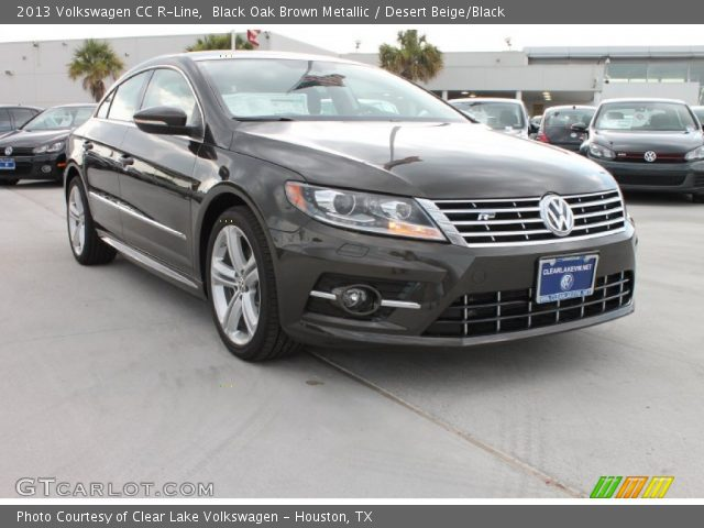 black oak brown metallic 2013 volkswagen cc r line desert beige black interior gtcarlot. Black Bedroom Furniture Sets. Home Design Ideas