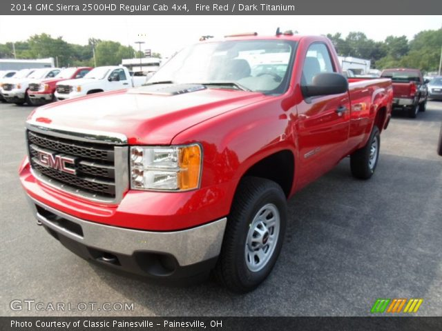 fire red 2014 gmc sierra 2500hd regular cab 4x4 dark titanium interior. Black Bedroom Furniture Sets. Home Design Ideas