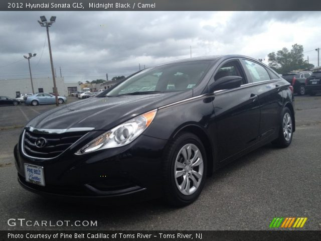 midnight black 2012 hyundai sonata gls camel interior gtcarlot. Black Bedroom Furniture Sets. Home Design Ideas