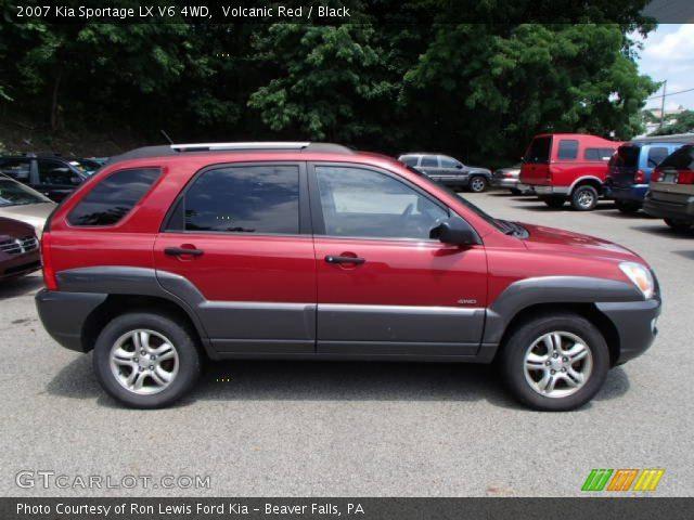 2007 Kia Sportage LX V6 4WD in Volcanic Red
