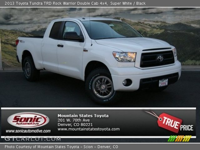 super white 2013 toyota tundra trd rock warrior double cab 4x4 black interior. Black Bedroom Furniture Sets. Home Design Ideas