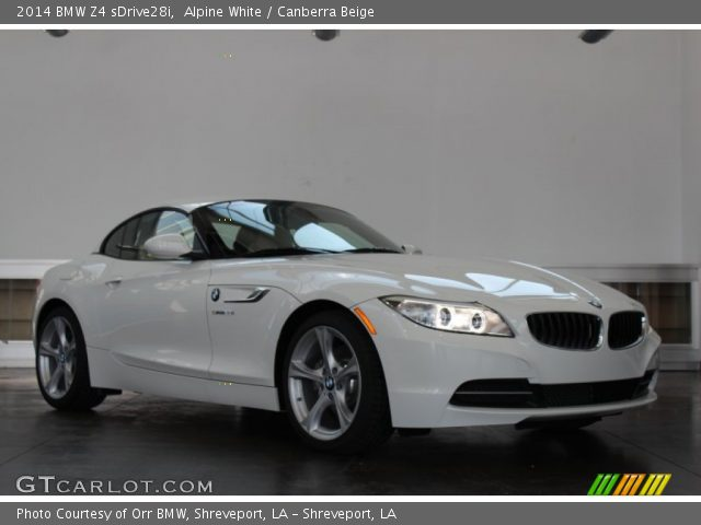 alpine white 2014 bmw z4 sdrive28i canberra beige. Black Bedroom Furniture Sets. Home Design Ideas