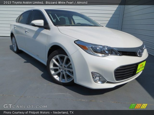 2013 Toyota Avalon Limited in Blizzard White Pearl