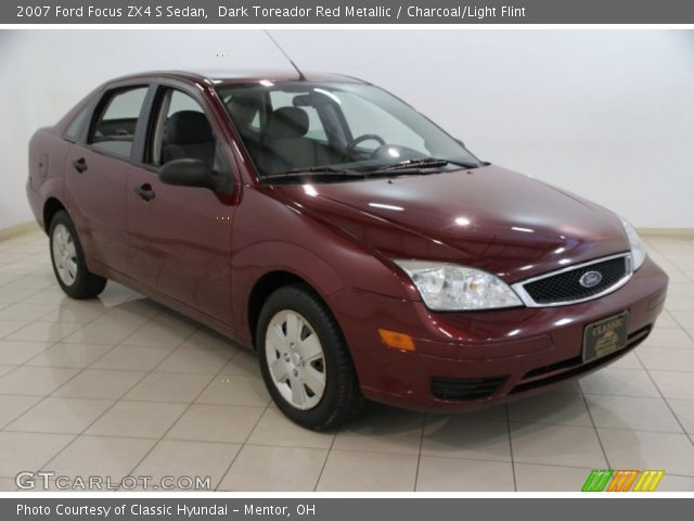 dark toreador red metallic 2007 ford focus zx4 s sedan. Black Bedroom Furniture Sets. Home Design Ideas