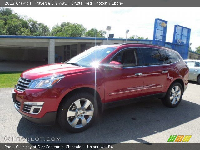 crystal red tintcoat 2013 chevrolet traverse ltz awd. Black Bedroom Furniture Sets. Home Design Ideas