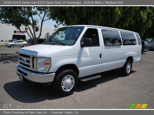 Oxford White 2008 Ford E Series Van E350 Super Duty 15
