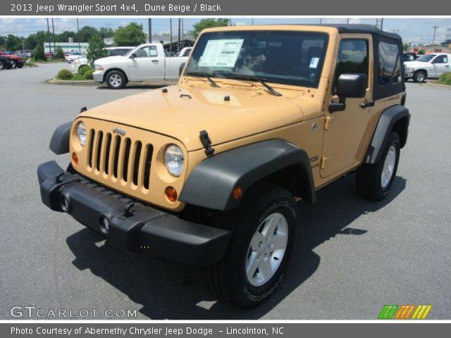 dune beige 2013 jeep wrangler sport 4x4 black interior vehicle archive. Black Bedroom Furniture Sets. Home Design Ideas