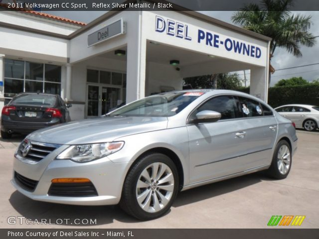 reflex silver metallic 2011 volkswagen cc sport black interior vehicle. Black Bedroom Furniture Sets. Home Design Ideas